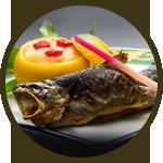 岩魚の塩焼き 900円(税別)